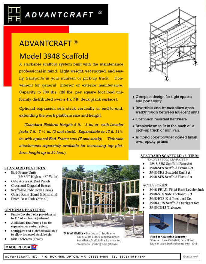 Advantcraft Scaffolding And Advantcraft Rental Services